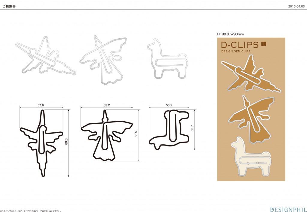 ペルーのお土産、ナスカの地上絵をデザインクリップに